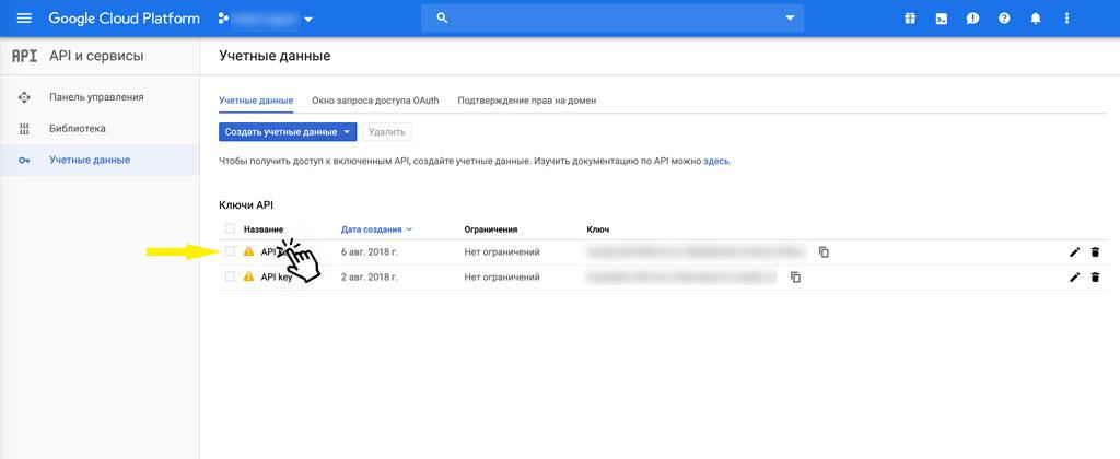 Как получить Google Maps Api Key - шаг 5