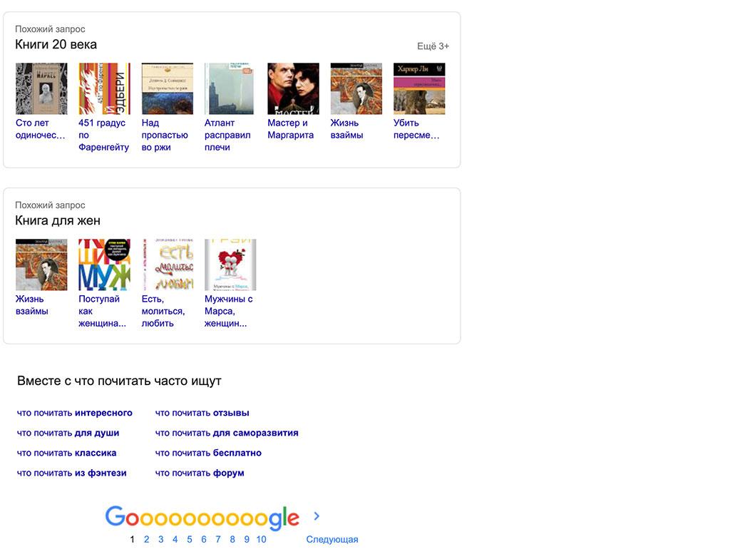 Похожіе ключевие слова Google